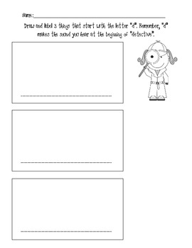 Draw and Label Pictures Beginning with d and r