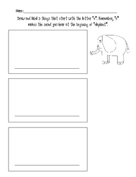 Draw and Label Pictures Beginning with e