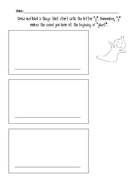 Draw and Label Pictures Beginning with g and w