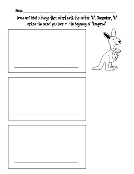 Draw and Label Pictures Beginning with k