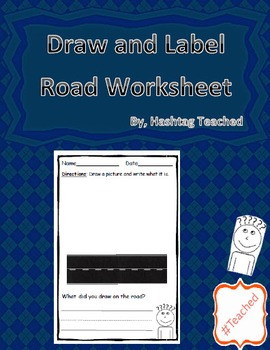 Draw and Label Road Scene (Building Early Vocabulary)