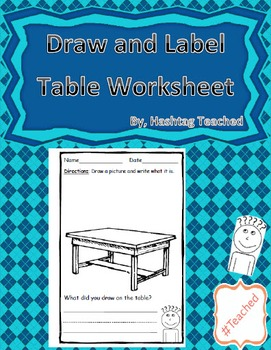 Draw and Label Table Scene (Building Early Vocabulary)