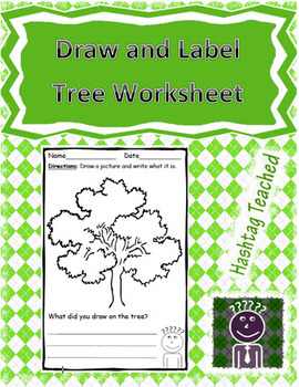 Draw and Label Tree Scene (Building Early Vocabulary)