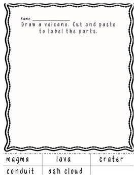 Draw and Label Volcano