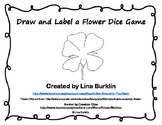 Draw and Label a Flower Dice Game