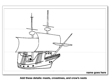 Draw and Paint the Mayflower for Thanksgiving