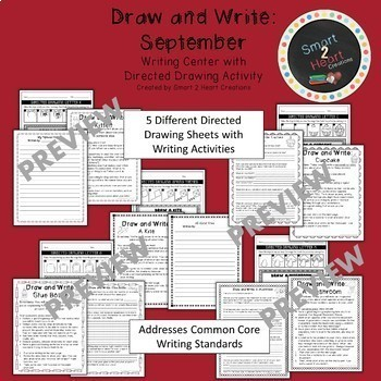 Draw and Write August to January GROWING BUNDLE (Writing Center)