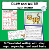 Draw and  Write Differentiated Writing Activity TIGERS