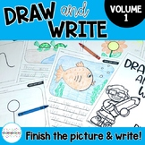 Draw and Write: Finish the Picture Writing Pages- Distance