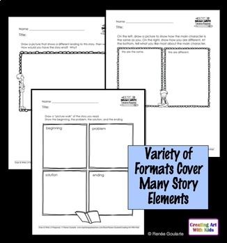 Printables Literature Response Draw and Write