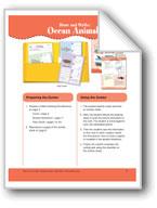 Draw and Write: Ocean Animals (File Folder Center)
