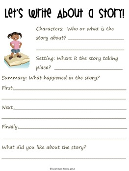 Draw and Write about a Story freebie!