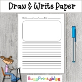 Draw and Write paper for Kids blank lined journal with box to draw