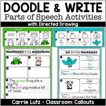 Draw and Write using Directed Drawing and Parts of Speech
