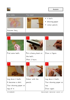Draw and paint step by step - autumn leafs