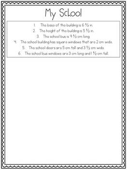 Draw by Measurement Math Activities
