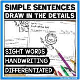 Sight Word Worksheets with Simple Sentences Volume 1