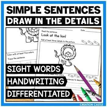 Simple Sentences Sight Word Practice