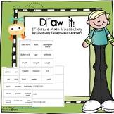 Draw it! Common Core First Grade Math Vocabulary