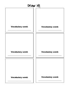 Draw it--Vocabulary