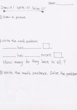 Draw it.  Write it.  Solve it.