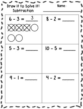 Draw it to Solve it! Printables (Addition & Subtraction)