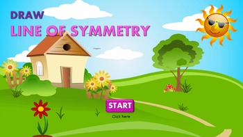 Symmetry: Draw line of symmetry