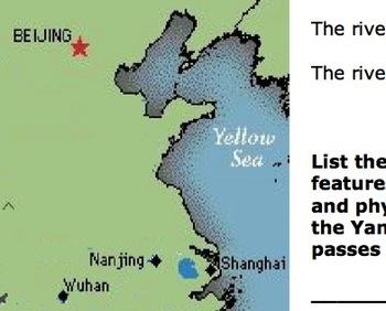 Draw map of River Yangtze