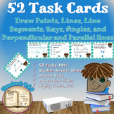 Draw points, lines, rays, line segments/angles Task Cards