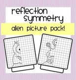Draw that Alien! Reflection Symmetry & Using a Mirror Line Worksheets
