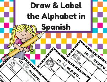 Name and Draw Alphabet in Spanish (Nombrar y dibujar objet