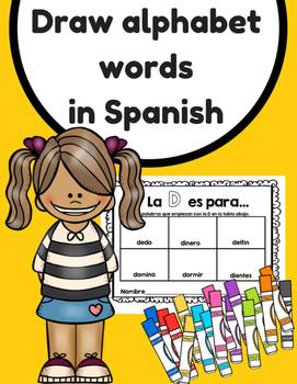Draw the Alphabet in Spanish (Dibuja objetos del abecedario)