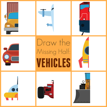 Draw the Missing Half of a Vehicle: Art Prompts for Teaching Symmetry