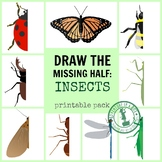 Draw the Missing Half Art Prompts: Insect Symmetry