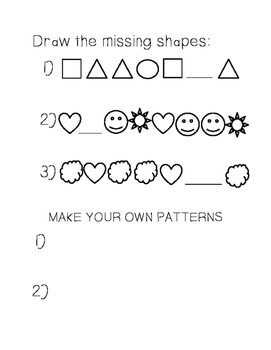 Draw the Missing Shape (Shape Patterns 2)