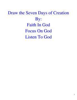 Draw the Seven Days of Creation