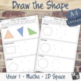 2D SHAPE DRAWING Regular and Irregular Polygons Worksheets