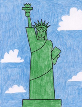 Draw the Statue of Liberty Easy