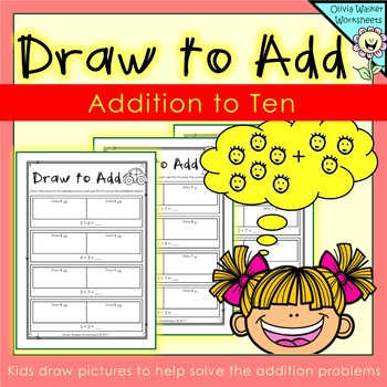 Draw to Add - Addition to Ten - Adding to 10 - Worksheets - Printables