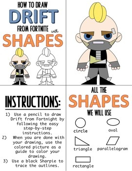 early finisher activity draw with shapes fortnite drift - how to draw fortnite characters step by step drift