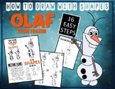 Snowman OLAF from FROZEN - Draw with Shapes