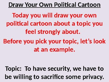 Draw your own political cartoon activity