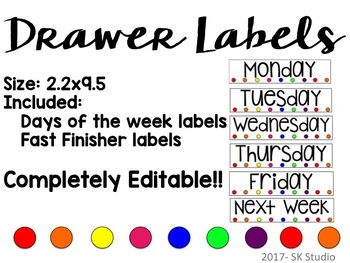 Drawer Labels