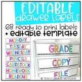 Drawer Labels {BRIGHT & Editable!}