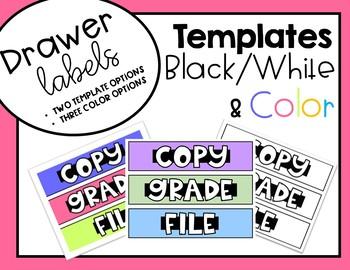 Drawer Labels (Brights, Pastels, Black/White)  GROWING BUNDLE