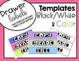 Drawer Labels (Brights, Pastels, Black/White)  GROWING BUNDLE