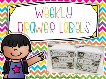 Drawer Labels: Days of the Week