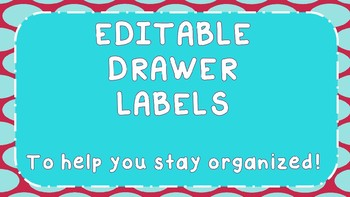 Drawer Labels- EDITABLE!