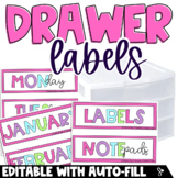 Drawer Labels {EDITABLE & BRIGHT}