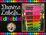 Drawer Labels Editable!